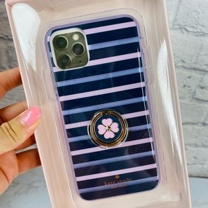 Kate Spade iPhone 11 Pro Max Stripped Ring Case